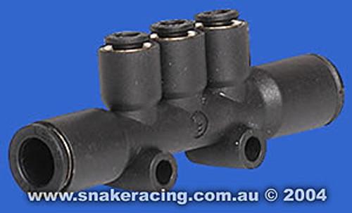 Air Manifold 6mm 3 port x 8mm