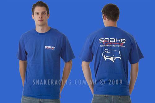 Snake Racing Mens Blue T-Shirt