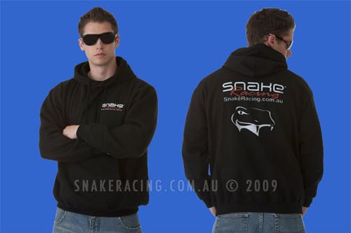 Snake Racing Mens Black Hoodie