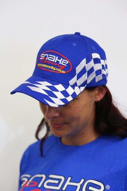 Snake Racing Baseball Cap Blue