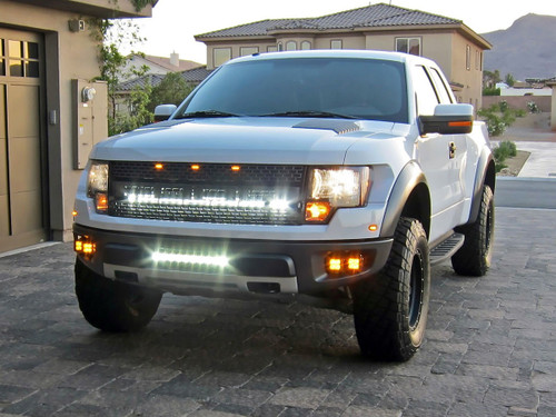 """Ford F-150 SVT Raptor 40"""" LED Upper Grille Mount"""