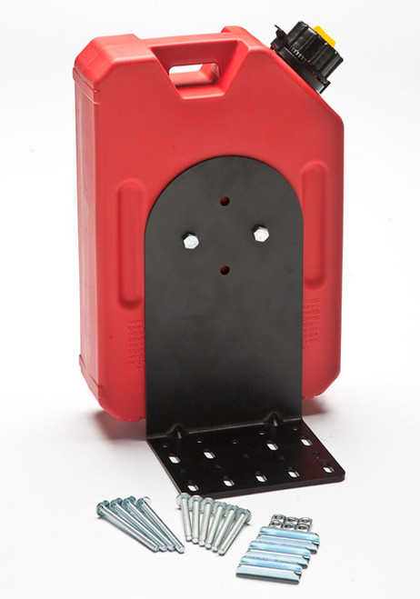 RotopaX L Shape Mounting Plate shown with 3.8L Red Fuel Tank (not included)
