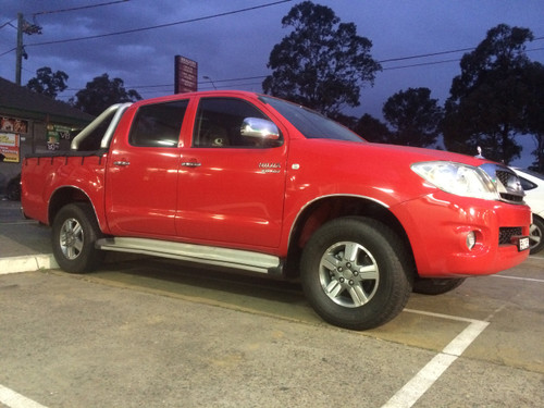 After - Clearance after installing Econo lift kit - 2wd Toyota Hilux 2005 onwards