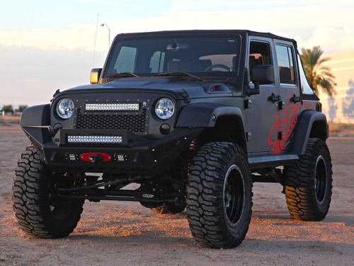 """JK Jeep Grille with 20"""" E Series LED"""