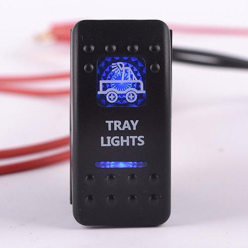 Carling Rocker Switch - Blue - TRAY LIGHTS