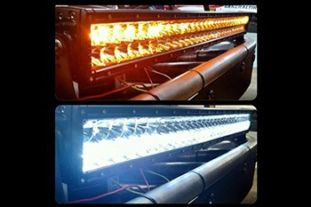 Amber & White Dual Function LED