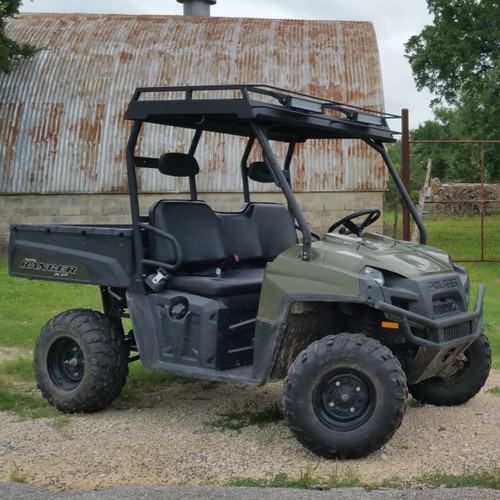 Side view with optional front mounted green LED light bars.