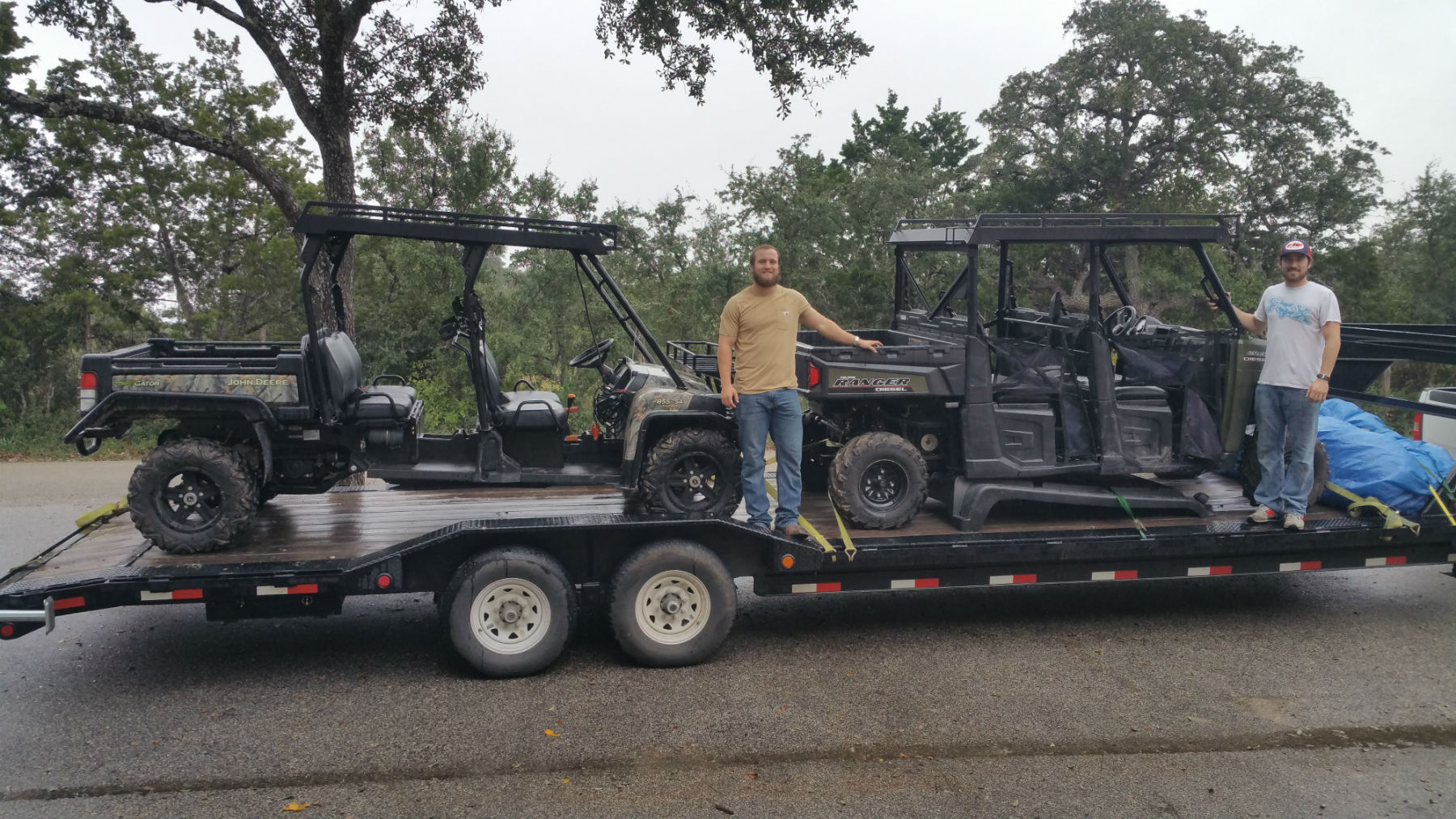 Customer photo of a John Deere Gator XUV and Polaris Ranger Crew with Metal Tops