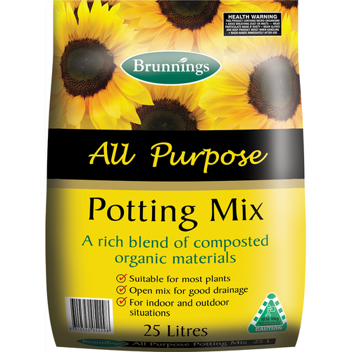 Potting mix all purpose 25 lt brunnings