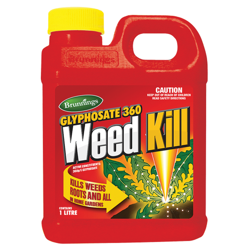 Weed kill glyphosate concentrate 360g/lt 1l brunnings