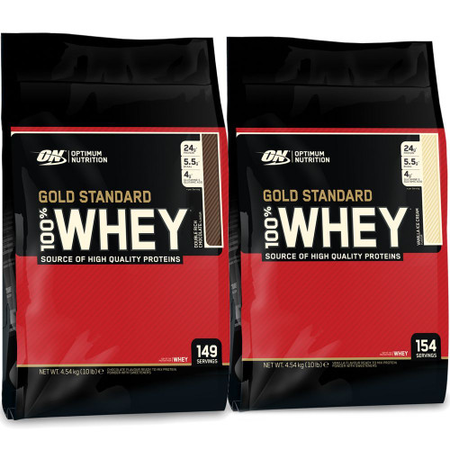 BUY 2 FOR £160 - Optimum Nutrition 100% Whey Gold Standard 4.54 KG (10 LB)