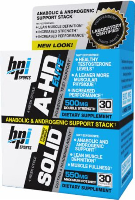 BPI Sports A-HD ELite + Solid Combo Pack 30 + 30 Capsules