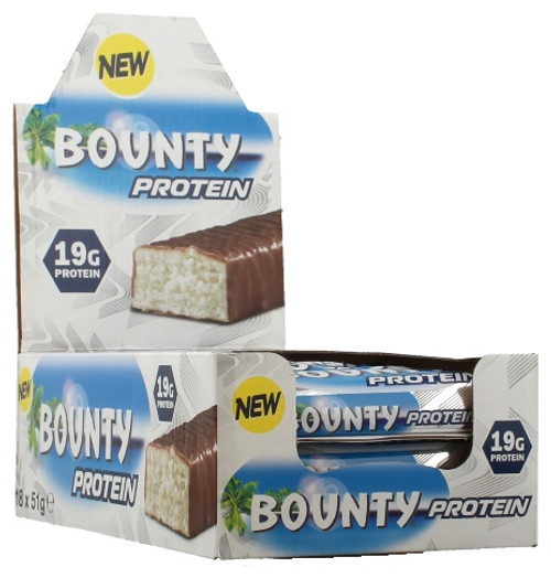 BUY 2 FOR £65 - Bounty Protein Bar 51 G x  18 Bars Pack