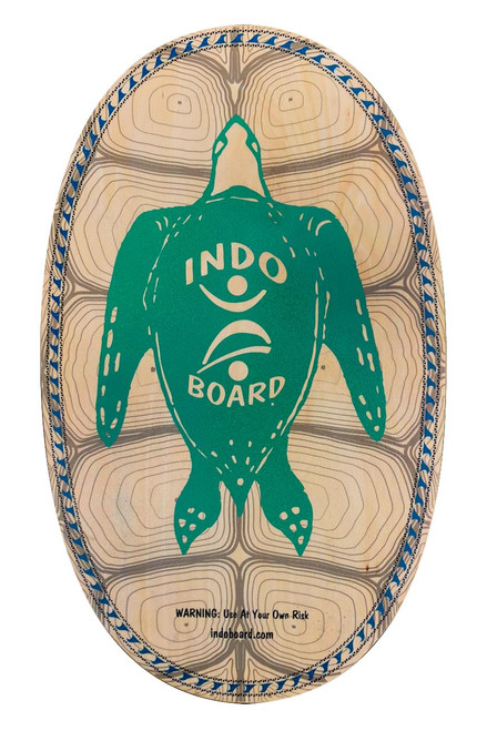 """SEA TURTLE  The INDO BOARD Sea Turtle Design features our 30"""" X 18"""" Original deck model.  INDO BOARD Original decks are our most popular models, providing both fun and effective balance training for anyone ages 3 to 93.    - Deck dimensions: 30"""" X 18"""" - Deck construction:  11/16"""" cabinet-grade, Baltic Birch plywood - Also comes as a bundled option with Deck, Roller and INDO Flo Cushion"""