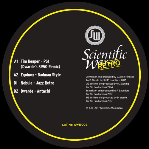 "SCIENTIFIC WAX RETRO 008 - Feat Equinox, Nebula, Dwarde, Tim Reaper - Transparent Yellow 12"" Vinyl"