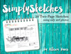 Simply Sketches Ebook: 4x6 Only (Two-Page Layouts)