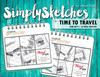 Simply Sketches Ebook: June 2017   Time To Travel