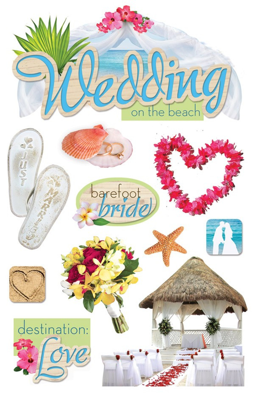 Paper House Productions 3d Stickers Wedding On The Beach