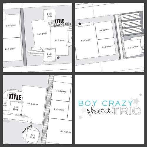 2015 JANUARY SKETCH TRIO: Boy Crazy