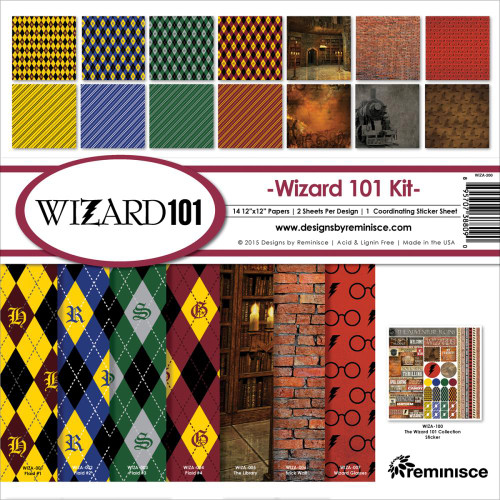 Reminisce Wizard 101 12x12 Collection Kit