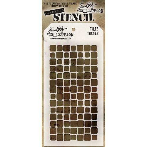 Tim Holtz Layering Stencil: Tiles