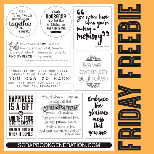 SG Friday Freebies: 2016 September - Quotes