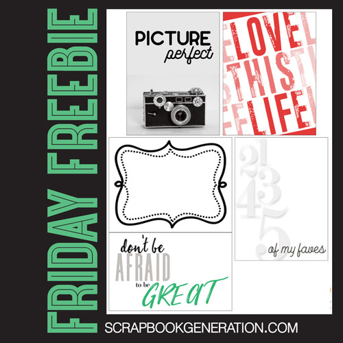 SG Friday Freebies: 2016 September - Title & Journaling Printables