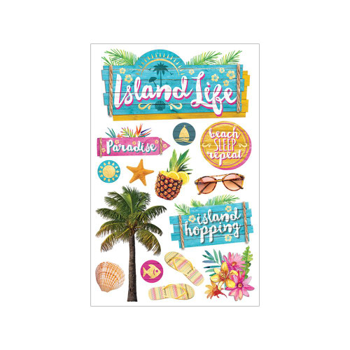 Paper House Productions Paradise Found 3D Stickers: Island Life