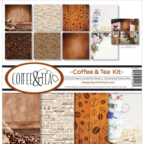 Reminisce Coffee & Tea 12x12 Collection Pack