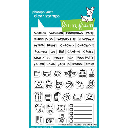 Lawn Fawn Clear Stamp: Plan On It - Vacation