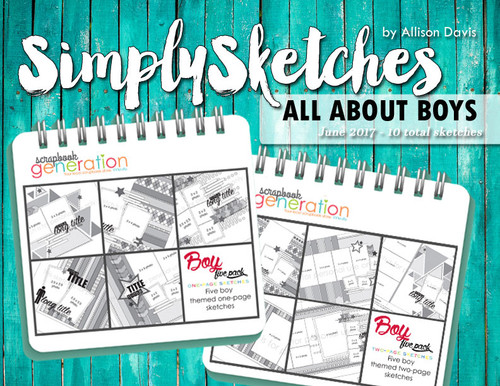 Simply Sketches Ebook: June 2017 | All About Boys