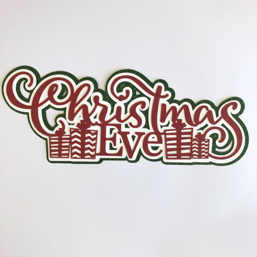 Scrapbooks From The Heart Diecut Title: Christmas Eve (Presents)