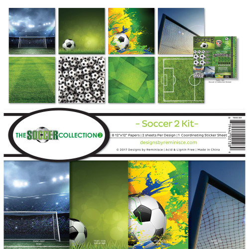 """Reminisce 12x12 Collection Pack: The Soccer Collection """"2"""""""