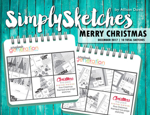 Simply Sketches Ebook: December 2017 | Merry Christmas