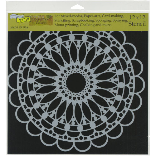 Crafter's Workshop 12x12 Template: Scalloped Mandala
