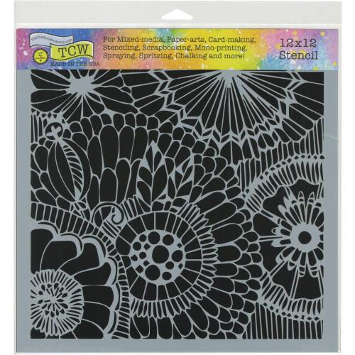 Crafter's Workshop 12x12 Template: Botanical Dream