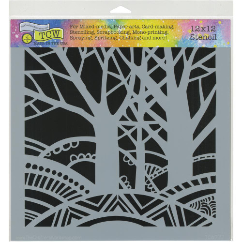 Crafter's Workshop 12x12 Template: Tree Paradise
