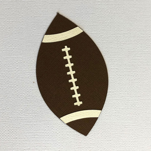 Scrapbooks From The Heart Diecut Title: Football