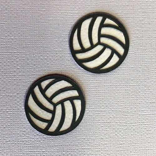 Scrapbooks From The Heart Diecut Title: Small Volleyballs (2 pk)