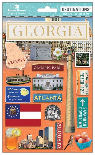 Paper House Productions Destinations Stickers: Georgia