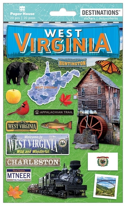 Paper House Productions Destinations Stickers: West Virginia