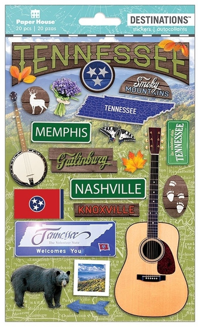 Paper House Productions Destinations Stickers: Tennessee