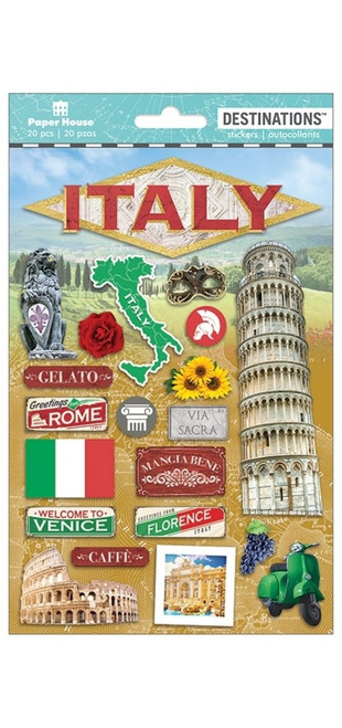 Paper House Productions Destinations Stickers: Italy