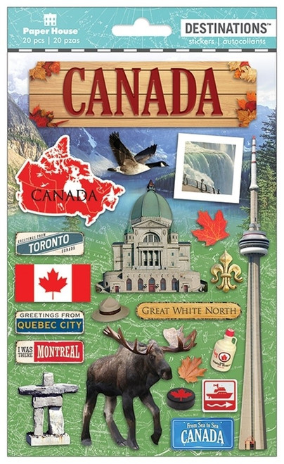 Paper House Productions Destinations Stickers: Canada