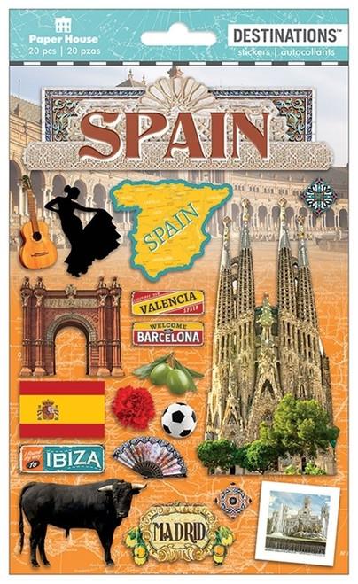 Paper House Productions Destinations Stickers: Spain