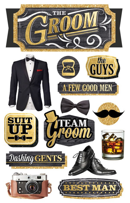Paper House 3D Stickers: The Groom