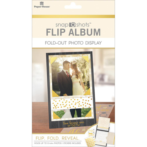 Paper House Snapshots Flip Album Fold-Out Photo Display: Wedding