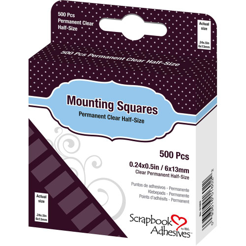Scrapbook Adhesives Permanent Mounting Squares - Clear (500/Pkg)
