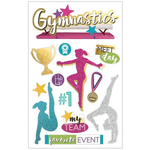 Paper House Productions 3D Stickers: Gymnastics (Gold)