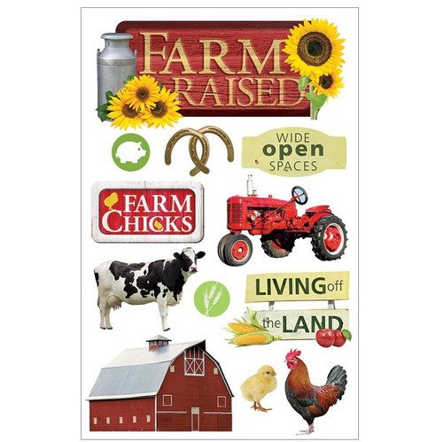Paper House Productions 3D Stickers: Farm Raised
